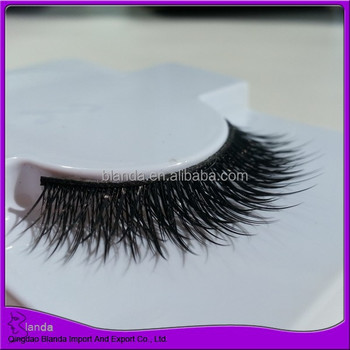 Newest design 3d false eyelash synthetic fiber strip eyelash