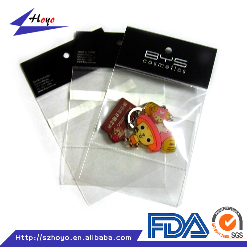 opp adhesive clear plastic jewelry packaging