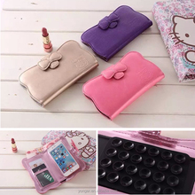 2015 new arrival hello kitty universal wallet case fit for all cell phone,for mobile phone universal case