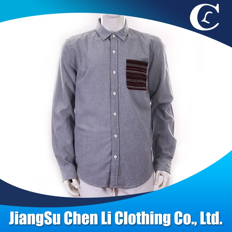 Hot sale cheap fashion shirts men's solid color casual dress shirts