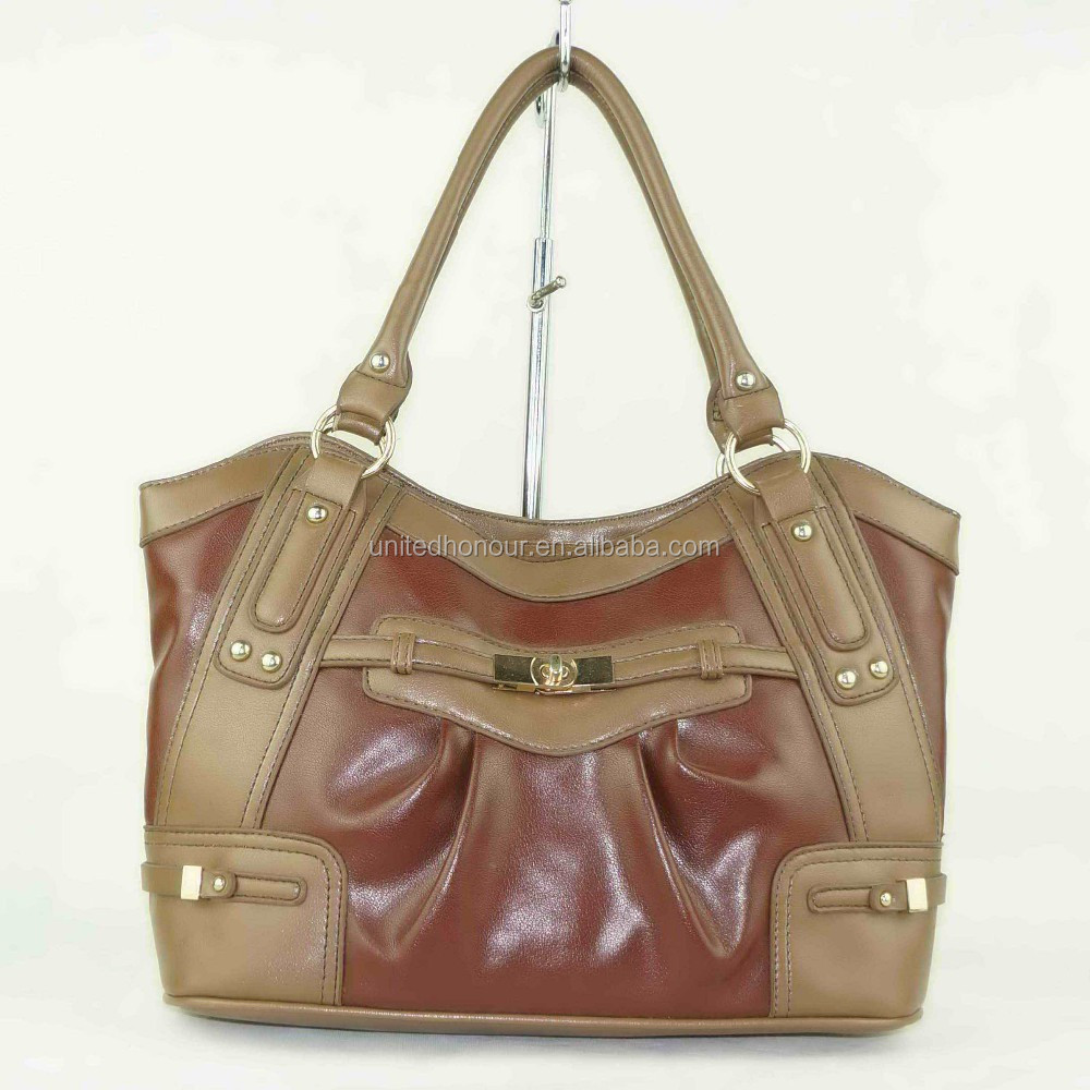 PU leather brown model miss unique design retro vintage style handbags