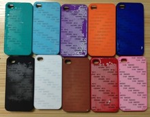 high quality phone case for iPhone 4/4S cover with sublimation printable aluminum sheet,and have the oil surface