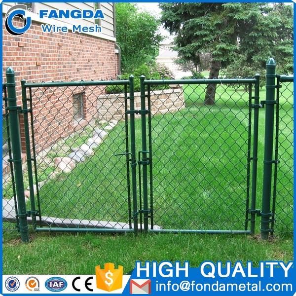 economy good custom Low carbonpvc covered / insulated/ temporary chain link fence made in China