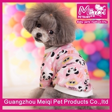 cute dog clothing panda printed xxx dog clothing factory