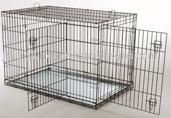 Collapsible metal dog crate