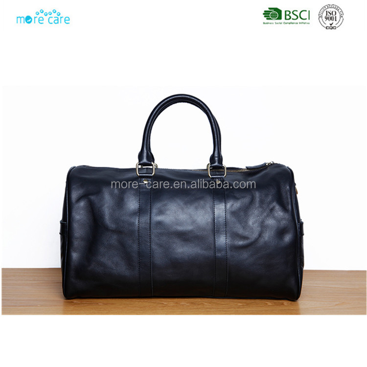 fashion vintage genuine leather travel weekend duffel bag