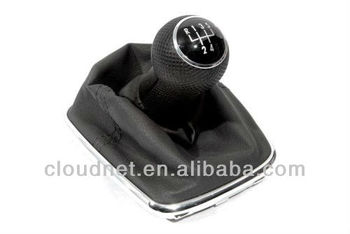 Chrome Gear Shift Knob & Boot (Rubber Grip 5 Speed) For VW Volkswagen Golf Jetta Bora MK4
