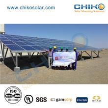 Customized degree pv panel solar mounting for ground solar power station