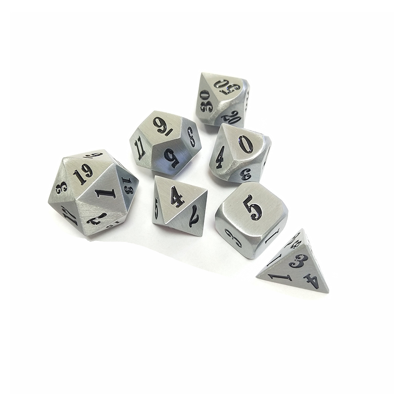 2019 custom original alloy metal D4 D6 D8 <strong>D10</strong> D12 D20 polyhedron color casino bulk game dice set