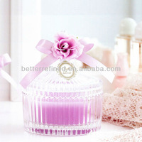 decorative glass vertical bar candle container