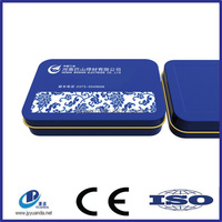 Rectangular business card tin box/tin can/tin case wholesale