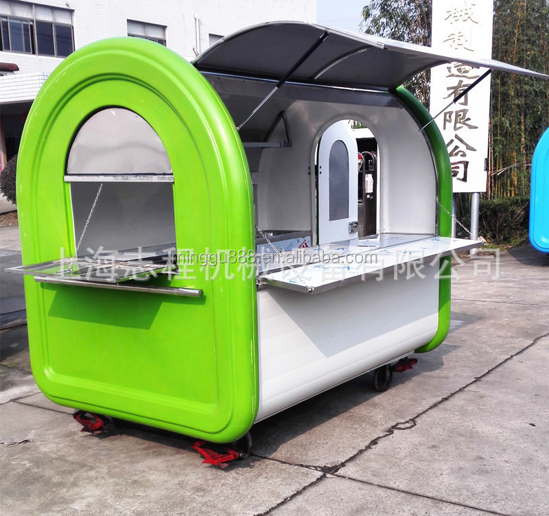 food trailer mobile food cart sweet corn kiosk snack kiosk coffee pancake cooking wagon coffee cabin van