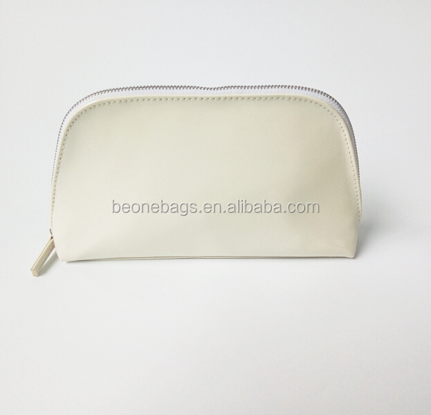 Slim Compact Mini Travel Cosmetic Make Up Bag with Metal Zip