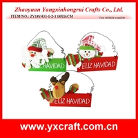 Christmas decoration (ZY14Y433-1-2-3 14X16CM) wood decorative santa claus, father christmas hanging decoration, christmas gift