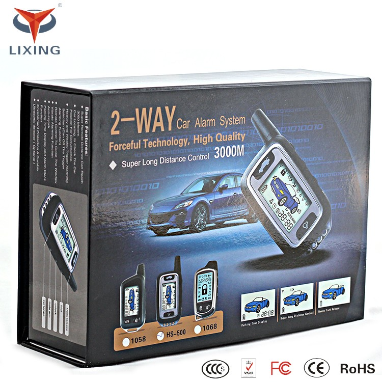 Two Way Car Alarm System/manual Car Alarm System/smart Phone Car ...