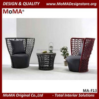MA-F13 Oriental Design Outdoor Furniture High Back Resin Wicker Sofa Chair