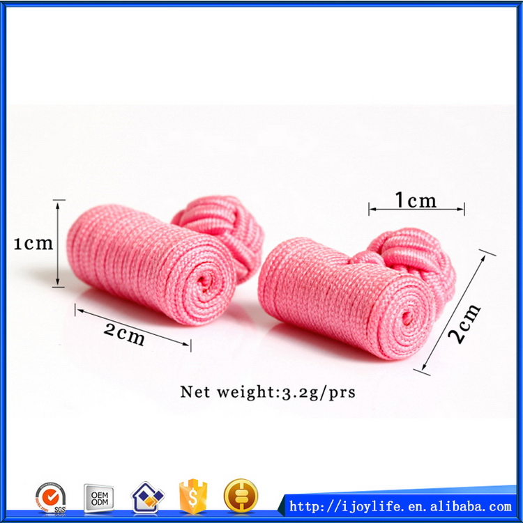 New style unique silk knot cufflink selection