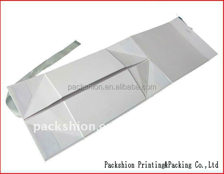Factory Direct Supplier Folding Gift Box with Ribbon Flap by Auto Machine