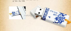 Blue and white porcelain ceramic usb gifts u disk creative custom llogo business gifts u disk 8g32 b usb flash drive 16 gbPN5452