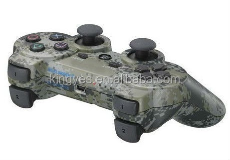 Factory wholesale Neutral Wireless Bluetooth Game controller Camouflage color Compatible for SONY PS3