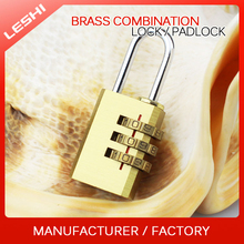 Suitcase, Travel Bag, Luggage Copper Combination Padlock