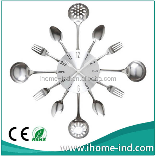 14'' modern kitchen clock with fork and knife(IH-3984)