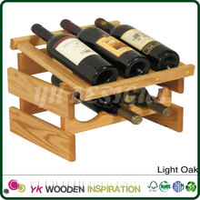 Custom Wooden 6 Bottle Wine Rack Holder Carrier Brown for gift or decoration