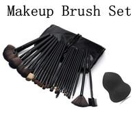 Logo Branding 24 Pcs Makeup Brush Set with PU Pouch, Makeup Brush Free Sample