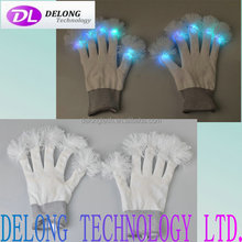 fashion festival party multi color flashing glow led finger light gloves