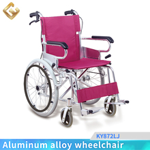 Health industry elderly or disabled wheelchair pink color with CE and FDA
