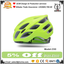 Custom Safety Adult Bicycle Helmets Fluorescent yellow Cycling road Helmet Three Sizes Antibacterial Pad