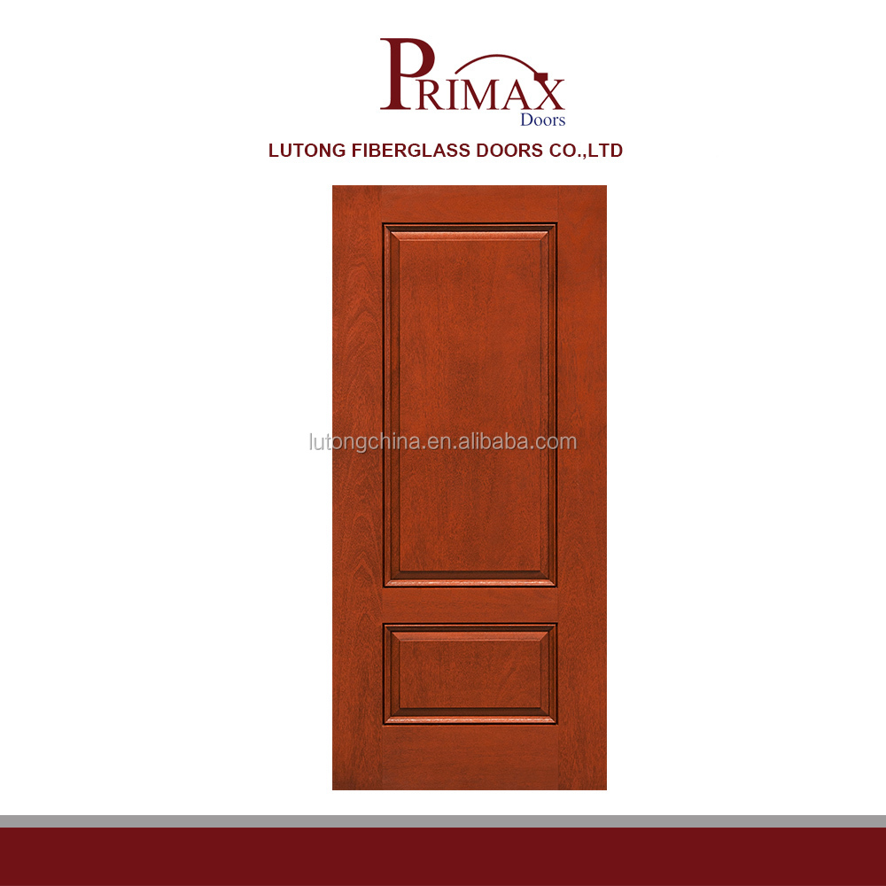 China wholesale fiberglass security doors smooth mahogany