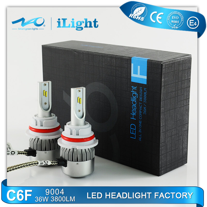 factory price oem high automotive 9004 power led headlight bicycle light with emark4
