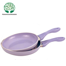 Purple Electric Lava Cooking Stone Pan and Heat Resistant Fry Pan with Tempered Handle