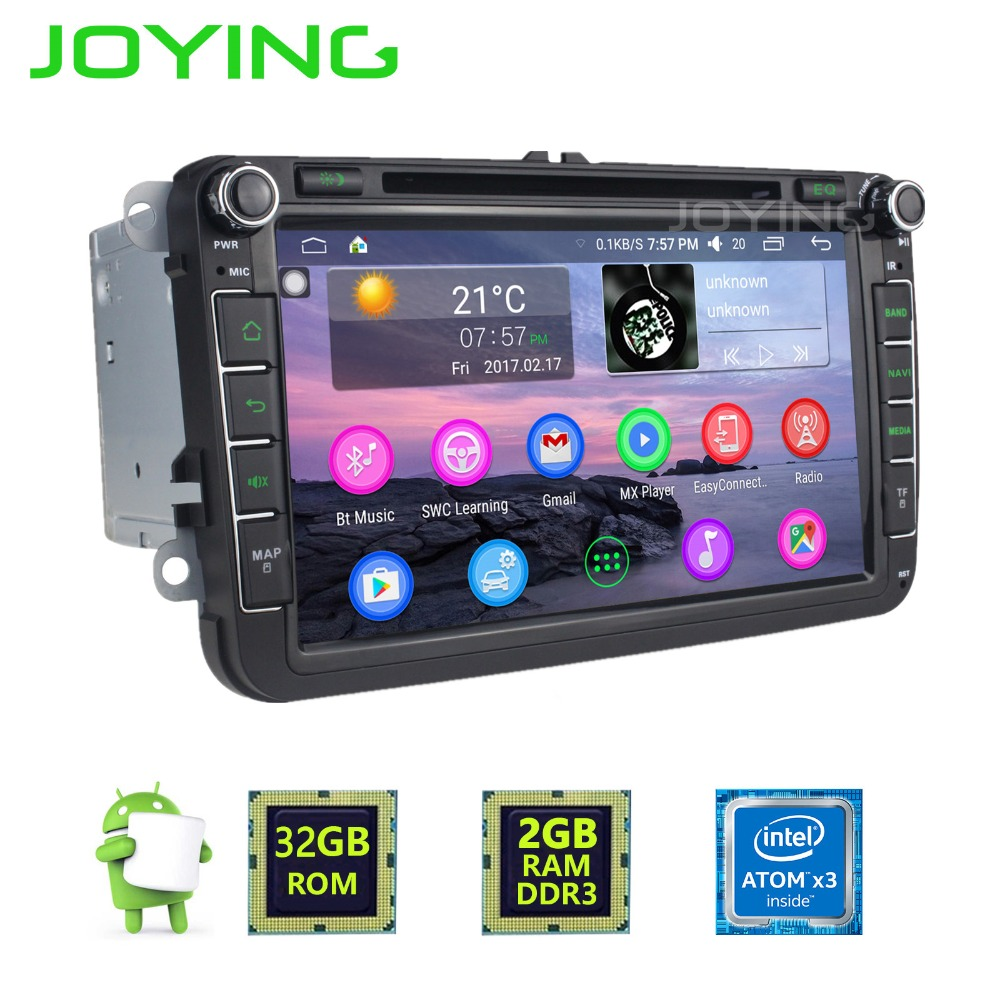 "JOYING Auto Gps Navigator 8"" Touch Screen Android Multimedia Dvd System Player Vw Car Radio"