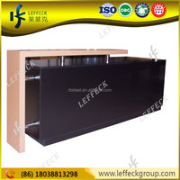 Popular Design Wooden Clothes Shop Counter Table Design With Locks