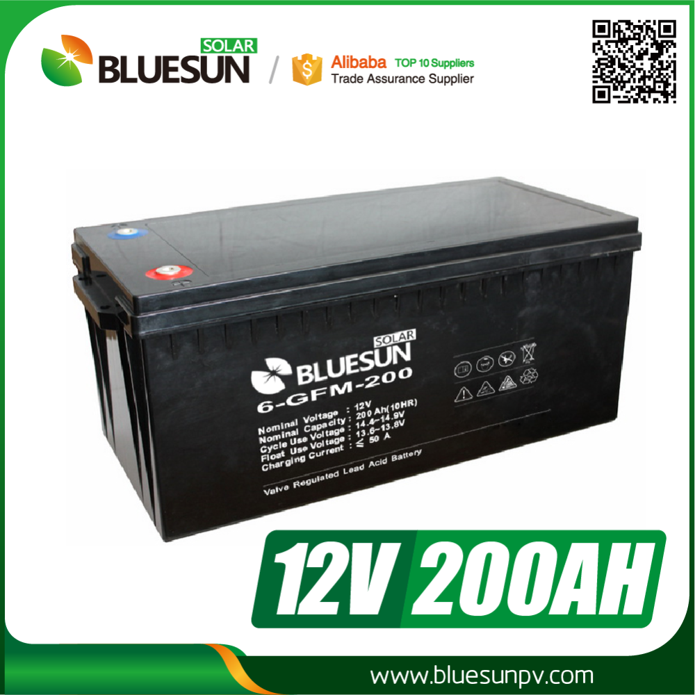 Bluesun hot sale 12V 200AH ups battery charger prices in pakistan