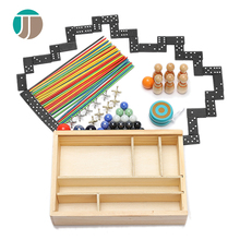 Wooden 7 In 1 Table Games Funny Multi Game Table For Kids Intelligent Toys Multi Function Game Table