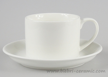 150cc 5oz approx. Antique Plain White Personalized Porcelain Coffee And Tea Cups And Saucers Sets