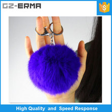 Fashion Hair Bulb Fluffy Fur Ball Key Chain Bag Charm Clip Fuzzy Ball for Mobile Phone Pendant Fur Pompom Keyring/Key Chain