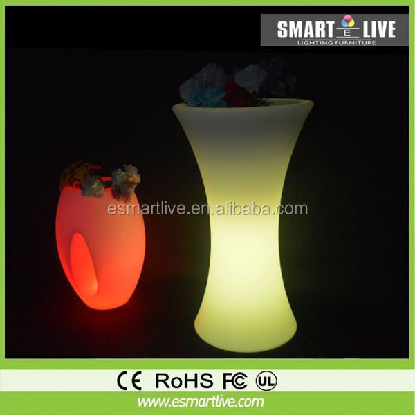 led small decorative flower pots/sun flower pots