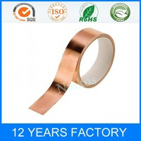 copper foil tape with non-conductive acrylic adhesive for UV resistance