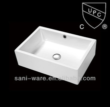 SN104 CUPC American standard rectangular ceramic art sinks