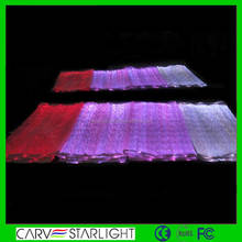 LED lighting fiber optical luminous fabric cloth neck design with net fabric/ scarf fabric