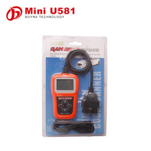 100% original Memoscan Mini U581 CAN OBDII/EOBDII Reader could update online for multi-language
