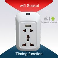New Fly 2015 Wifi Phone Wireless Remote Control Switch Timer Smart ip65 socket waterproof