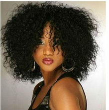 Fashionable Trendy Super Afo Cut African American short curly bob wigs