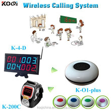 Catering equipment wireless waiter calling system wrist watch, display panel with waterproof transmitter
