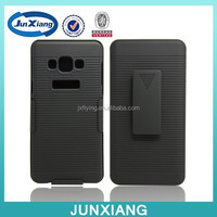 China supplier holster combo belt clip cover for Samsung Galaxy A7 with stripe pattern