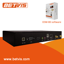 Easy-to-install android network digital signage client media player with free sever software